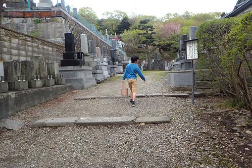 お墓参りと函館山