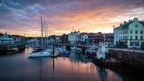 isleofman douglas quayside harbour yachts marina sunset coast dusk reflections sea boats landscape