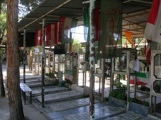 Iran-Iraq War Graves in Behesht-e Zahra Cemetery, Tehran, Iran