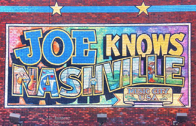 Joe Knows Nashville mural - Downtown Nashville, Tennessee