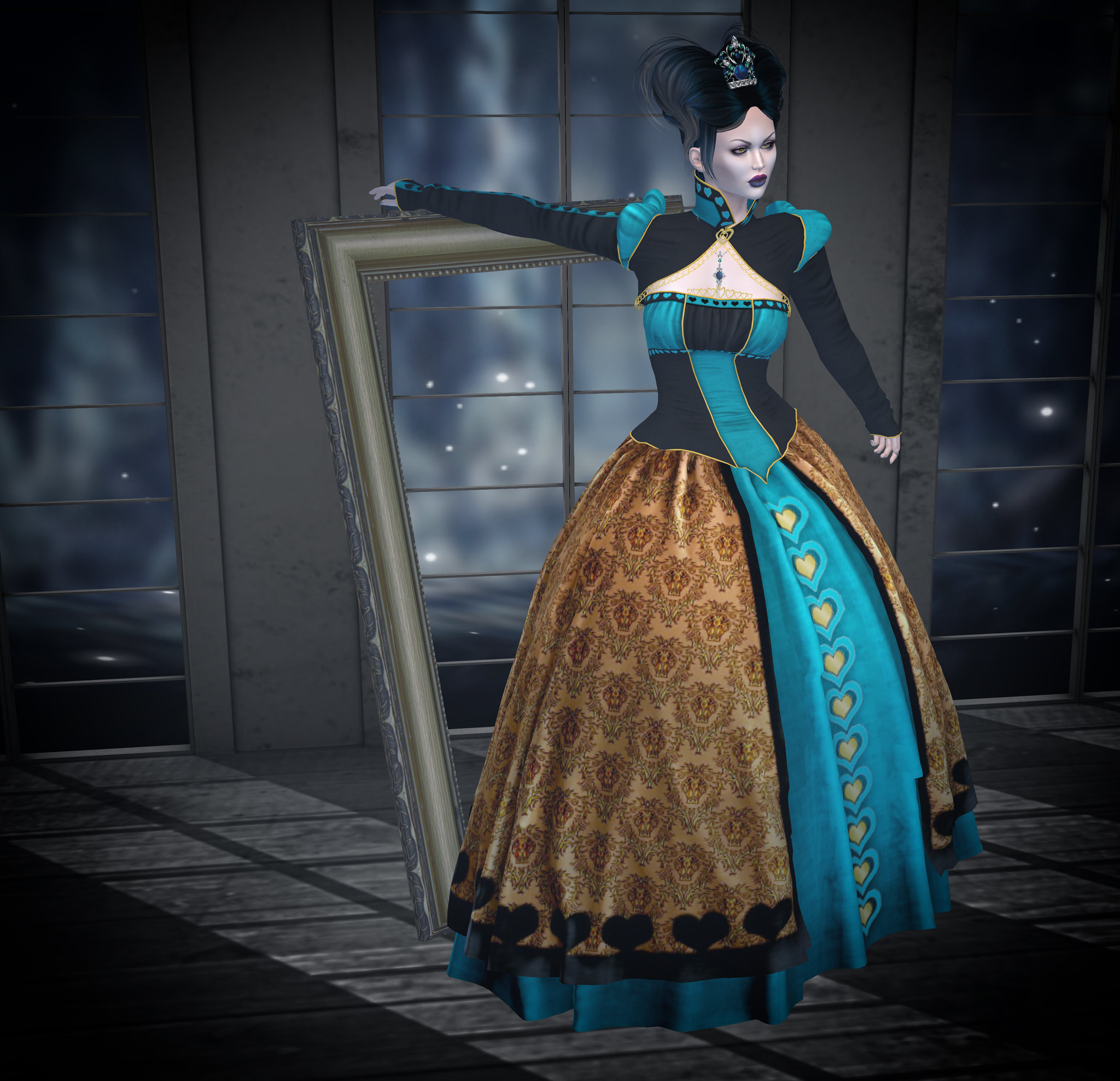 Iracebeth of Crim gown, teal, SMD @ Enchantment
