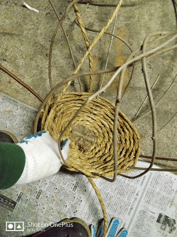DIY カゴ作り (8)