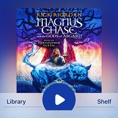 #currentlyreading Magnus Chase #1 by Rick Riordan. Thanks to @barefootbeloved13 for the #audiobook recommendation.