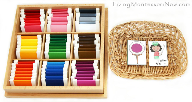 Golf Color Matching for Montessori Color Box 2 or Color Box 3