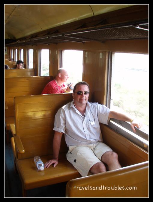 Dean en Henk in de trein