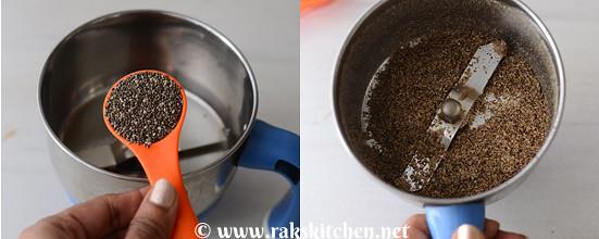 Eggless mango cake preparation 1
