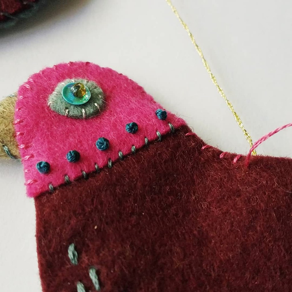 12 Months of Christmas Stitchalong 4 Colly Bird, a feature by floresita on Feeling Stitchy