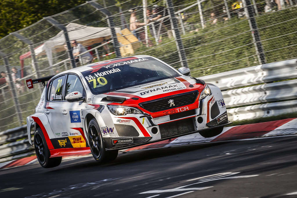 70 HOMOLA Mato (SVK), DG Sport Competition, PEUGEOT 308TCR, action during the 2018 FIA WTCR World Touring Car cup of Nurburgring, Nordschleife, Germany from May 10 to 12 - Photo Francois Flamand / DPPI
