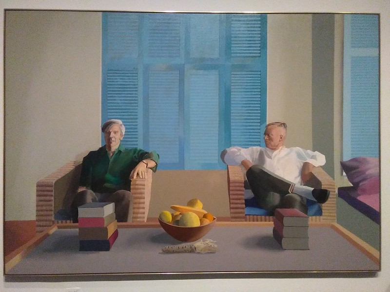 Christopher Isherwood and Don Bachardy (1968) #newyorkcity #newyork #manhattan #metmuseum #davidhockney #hockney #christopherisherwood #donbachardy #latergram