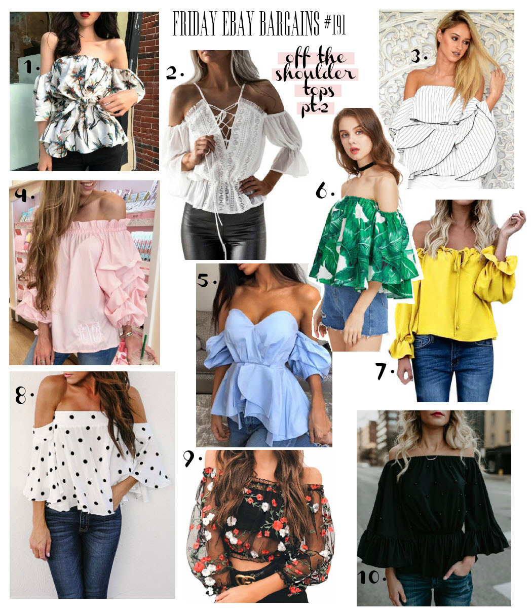 Best off shoulder tops on eBay