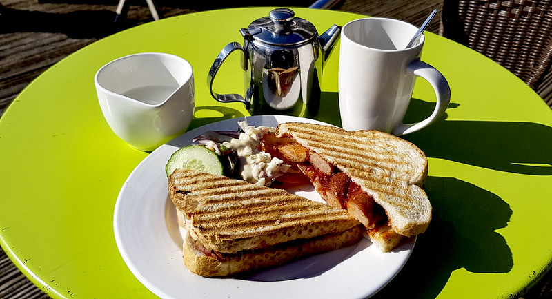 Breakfast Toastie and Tea