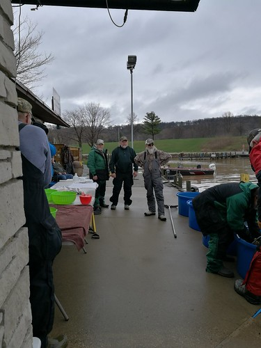 2018 Walleyes for Tomorrow Sauger egg and sperm collection at High Cliff State Park