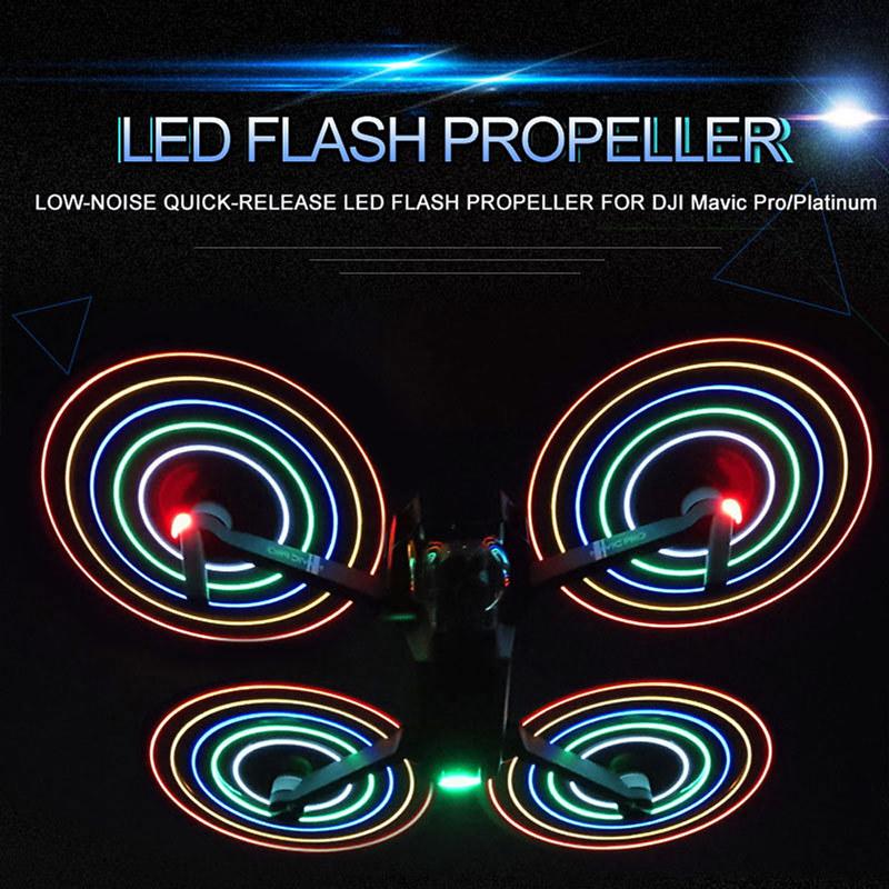 DJI Mavic Pro Platinum用 LEDプロペラ レビュー (2)