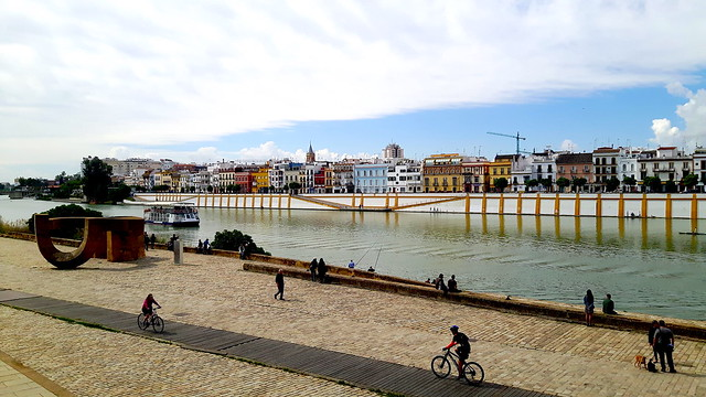Along the riverbank of Guadalquivir, Seville, Spain