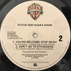 RUFUS AND CHAKA KHAN:AIN'T NOBODY(LABEL SIDE-B)