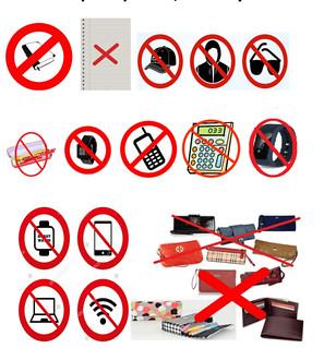JEE Advanced Prohibited Items List