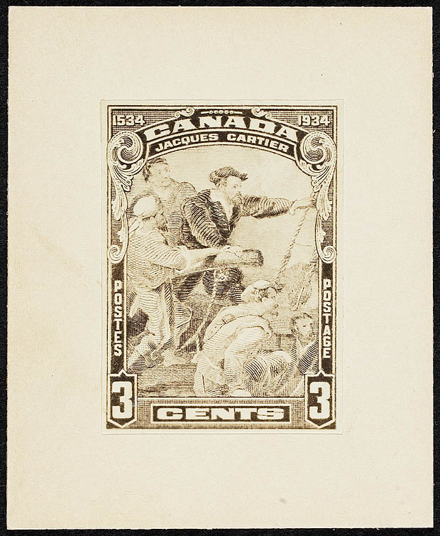 Canada - die proof of Scott #208 (1934). From the holdings of the National Archives of Canada.