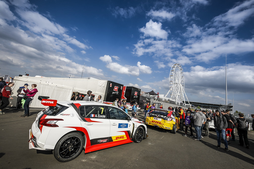 07 COMTE Aurelien (FRA), DG Sport Competition, PEUGEOT 308TCR, paddock atmosphere during the 2018 FIA WTCR World Touring Car cup of Nurburgring, Nordschleife, Germany from May 10 to 12 - Photo Florent Gooden / DPPI