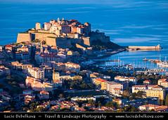 France - Corsica Island - Corse - Calvi at shores of Mediterranean Sea