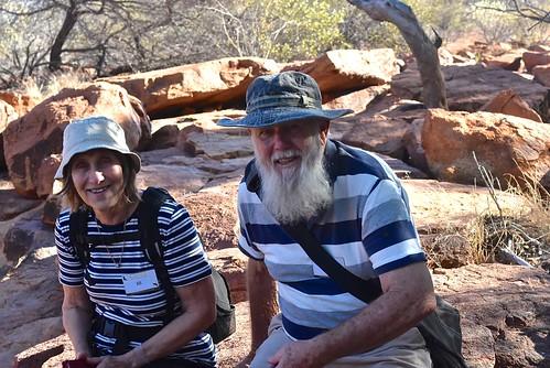 Jill & Paul Weaver at Mt Augustus 8 May 2018