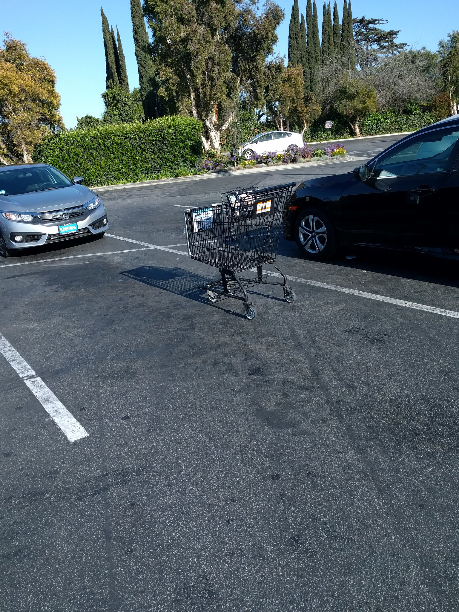 blocked parking space