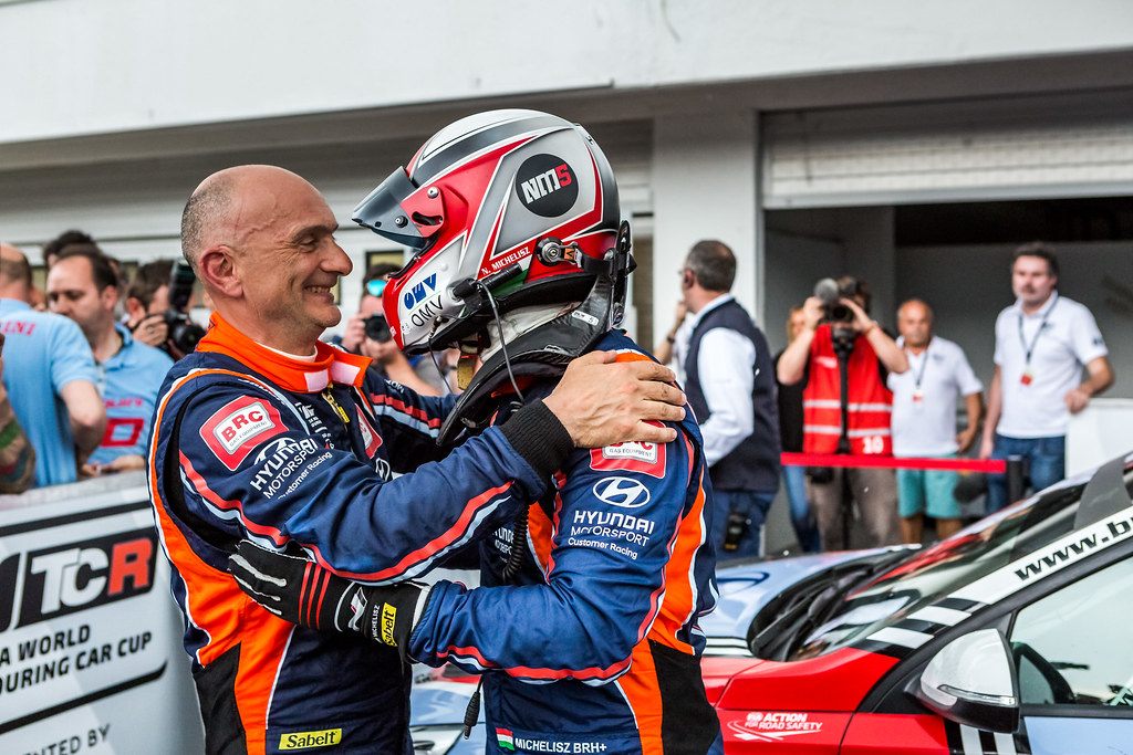 TARQUINI Gabriele (ITA), BRC Racing Team, Hyundai i30 N TCR, MICHELISZ Norbert (HUN), BRC Racing Team, Hyundai i30 N TCR, portrait during the 2018 FIA WTCR World Touring Car cup, Race of Hungary at hungaroring, Budapest from april 27 to 29 - Photo Thomas Fenetre / DPPI