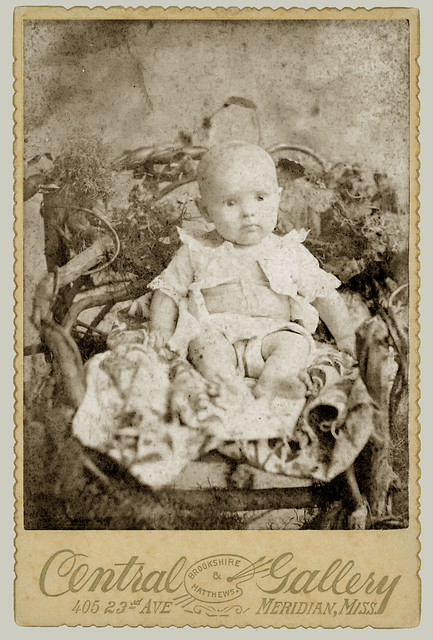 Cabinet Card baby in chair