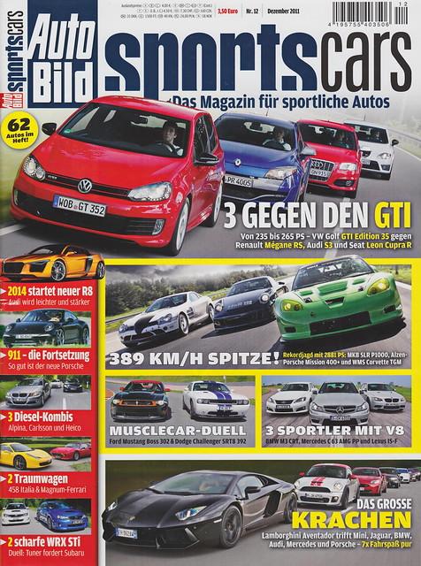Image of Auto Bild Sportscars 12/2011