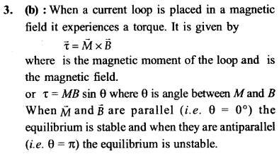 NEET AIPMT Physics Chapter Wise Solutions - Magnetism and Matter explanation 3