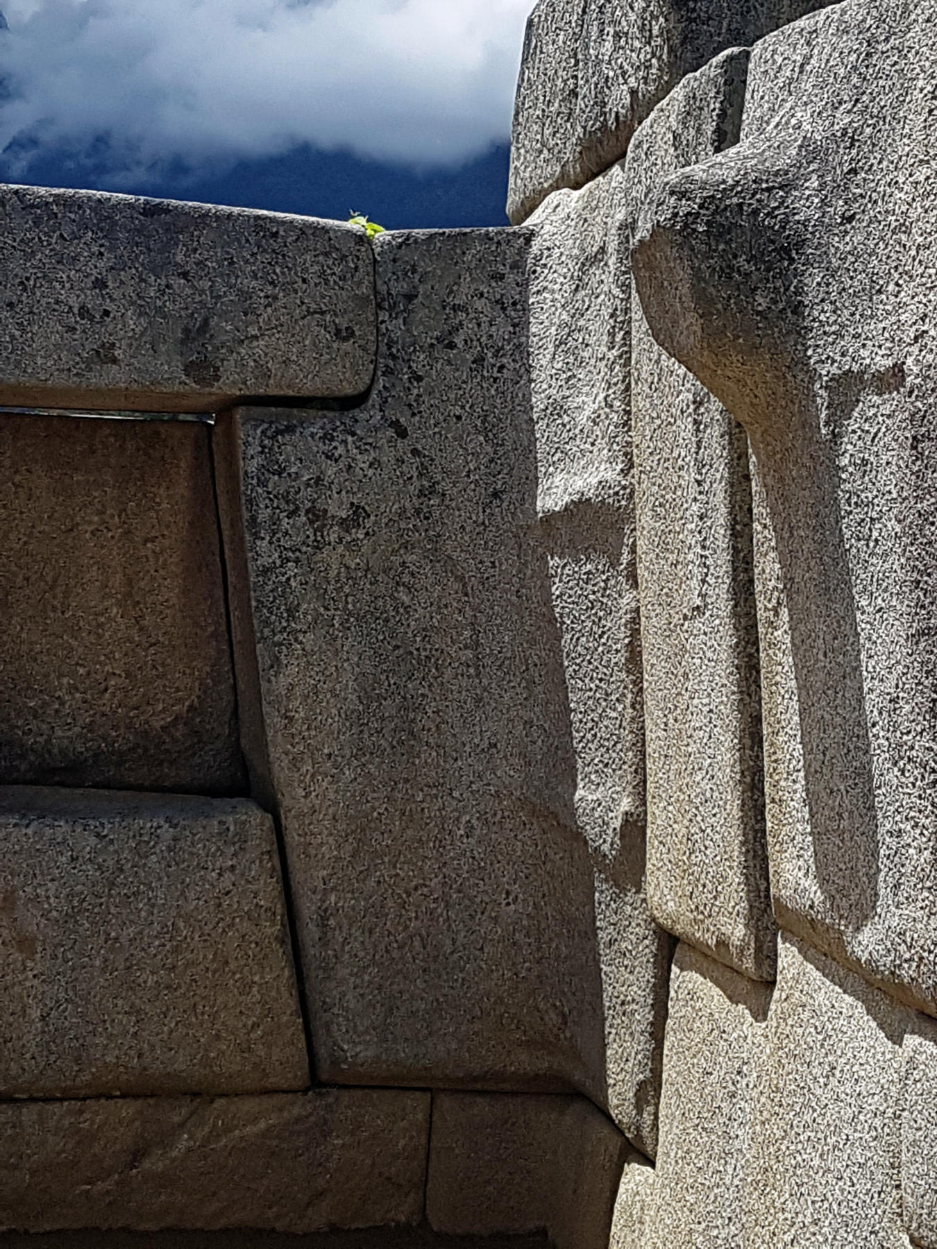 Detailed Inca stonework in Machu Picchu