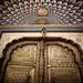 An Elaborate Door At The Jaipur Palace
