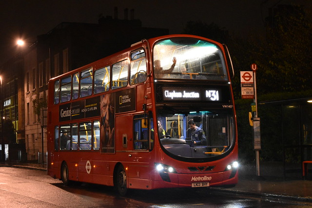 *NEW OPERATOR* Metroline: VW1407 | LK13BHY || N31: Camden Town - Clapham Junction