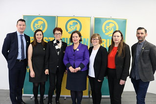 John Finucane, Megan Fearon MLA, Ailbhe Smith, Mary Lou McDonald TD, Louise O'Reilly TD & Jonathan O'Brien TD