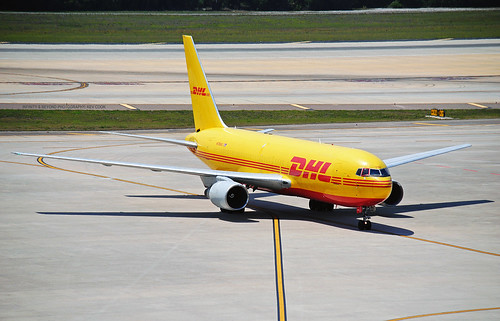 dhl cargo airlines freighter boeing 767 767f b767 b767f aircraft tampa airrport tpa planes