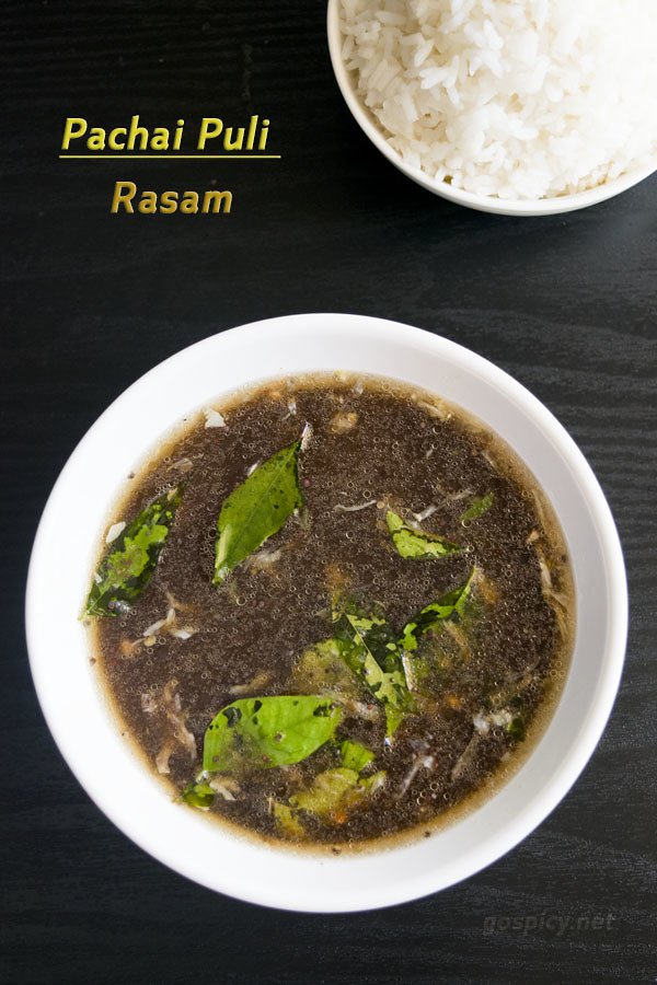 Pachai Puli Rasam Recipe by GoSpicy.net
