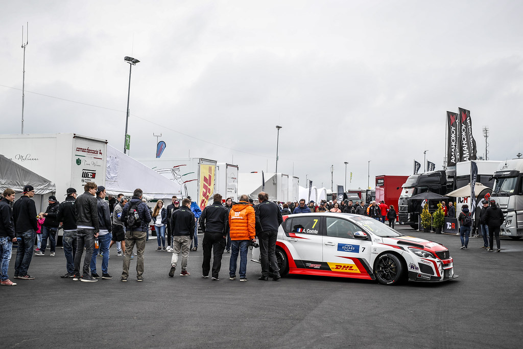 07 COMTE Aurelien (FRA), DG Sport Competition, PEUGEOT 308TCR, ambiance paddock during the 2018 FIA WTCR World Touring Car cup of Nurburgring, Germany from May 10 to 12 - Photo Florent Gooden / DPPI