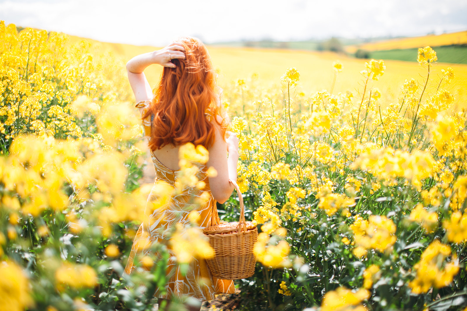 yellow dress field-7