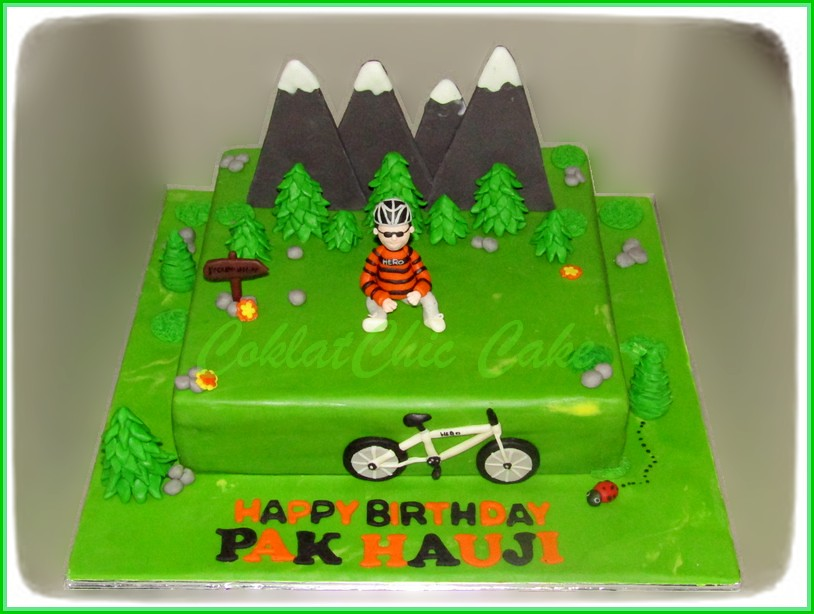 Cake Mountain Biking PAK HAUJI 30 cm