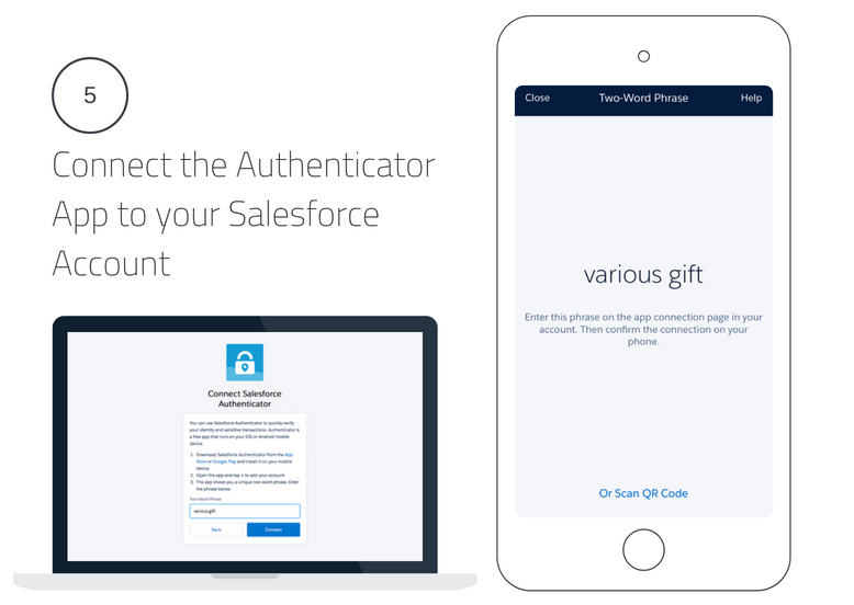 Connect the Salesforce Authenticator App to your Salesforce Account Lightning Login