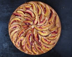 Peach and Almond Olive Oil Cake