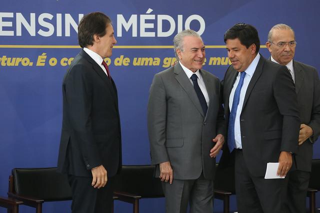 Cerimônia de Sanção da Lei do Novo Ensino Médio - Créditos: Antônio Cruz/Agência Brasil