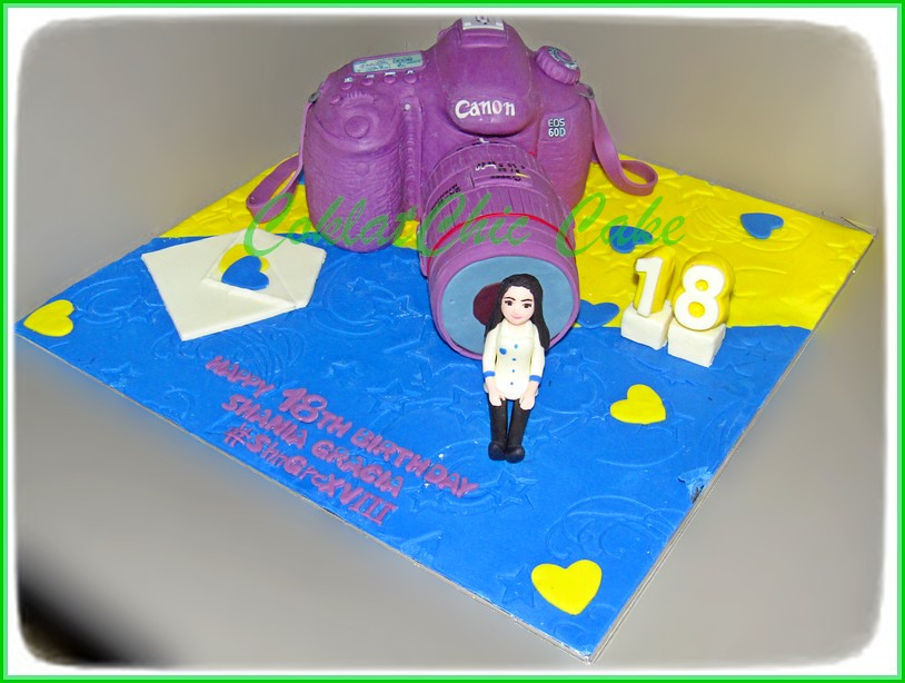 Cake Canon EOS 60D SHANIA Real Size