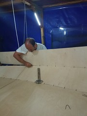 Making a boat with my father