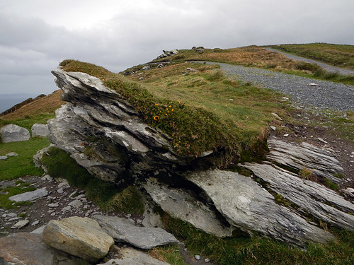 Rocky headland at the Ring of Skellig within the Ring of Kerry in Ireland