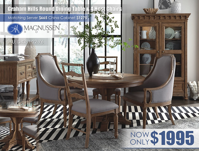 (4C) D4281_Graham Hills_DR_CONV3_Round Table & 4 Host Chairs