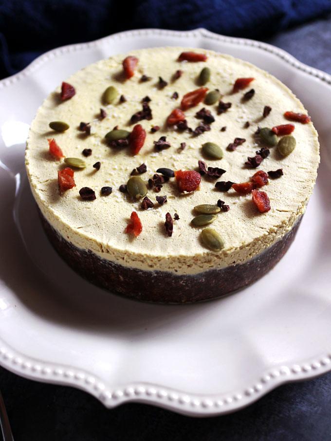 全素橙香巧克力起司蛋糕 vegan-double-chocolate-orange-cheesecake (4)