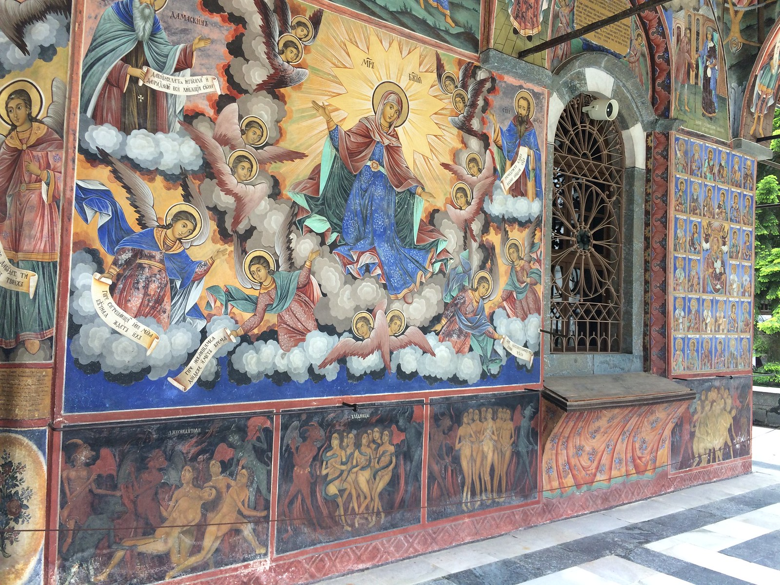 201705 - Balkans - Frescoes on Monastery Church - 20 of 66 - Rila Monastery - Rilski manastir, May 26, 2017
