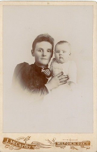 PB12 7b Mrs Weir and son Fred realted to Higgins c1900s