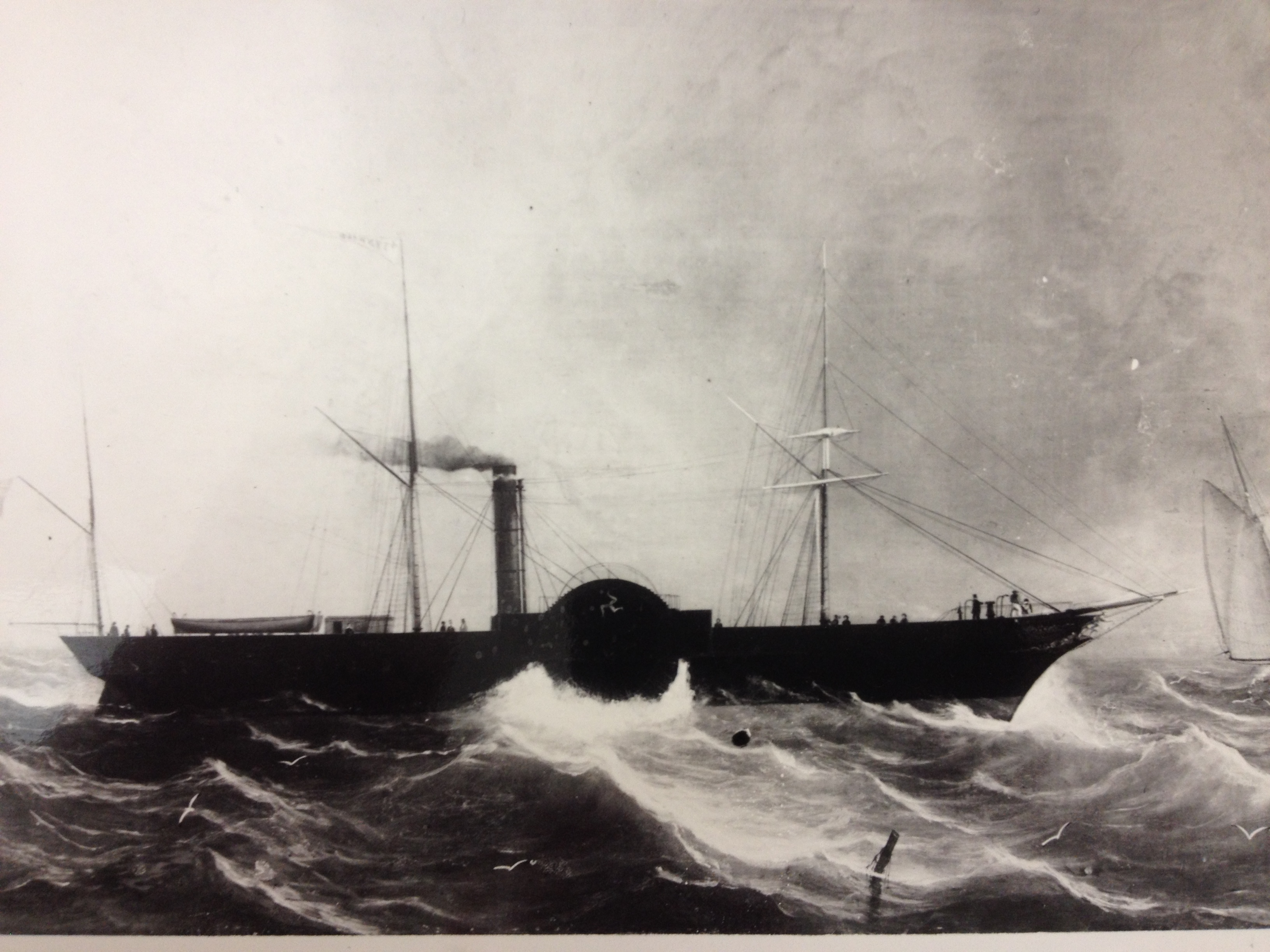 Painting of the Isle of Man Steam Packet Company paddle steamer Tynwald (I).. Artist and date unknown.