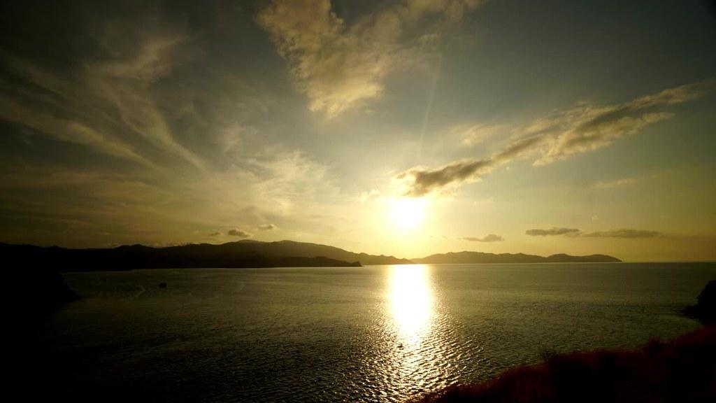 Sunset at Gili Lawa Darat, Komodo, Flores